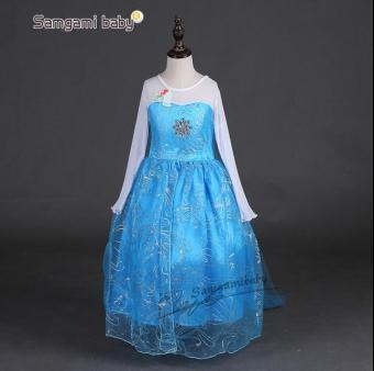 Girls Elsa Costume Princess Child Fancy Outfit Party Long Dresses - Intl - 2