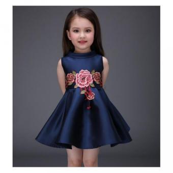 Girls embroidery flower dress - 2