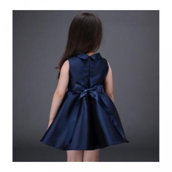 Girls embroidery flower dress - 4