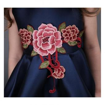 Girls embroidery flower dress - 5