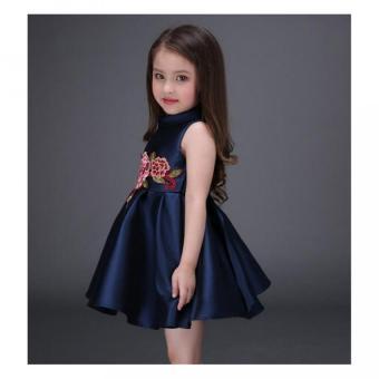 Girls embroidery flower dress - 3
