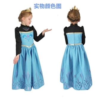 Girls frozen wedding dress beautiful fashion - intl