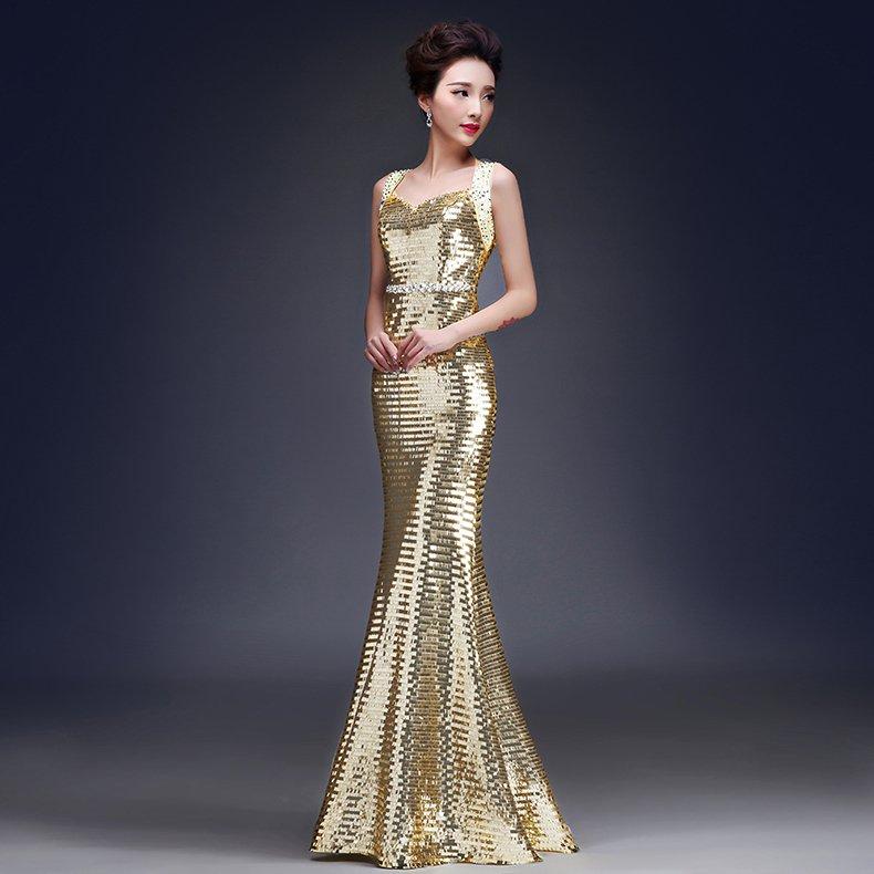 Vistoso Gold Glitter Cocktail Dress Galería - Colección del Vestido ...