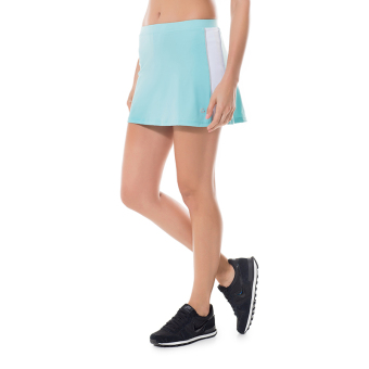 Gold soup badminton thin breathable quick-drying fitness skirt short culottes (Light blue)