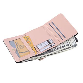 GOOD Lady Leather Clutch Bifold Short Wallet Card Holder Purse Handbag Black - 2