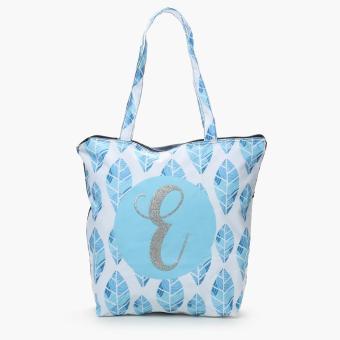 "Grab Ladies Yglitter ""E"" Botanical Tote Bag (Multicolored)"