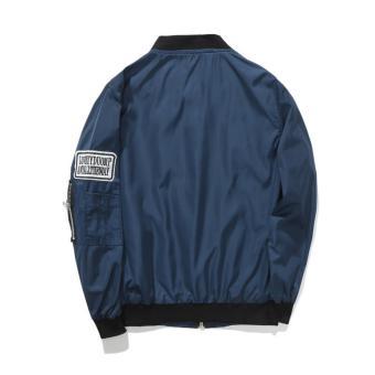 Grandwish Kids Patches Design Jackets Bomber coat Slim 6T-16T (Darkblue) - intl - 2