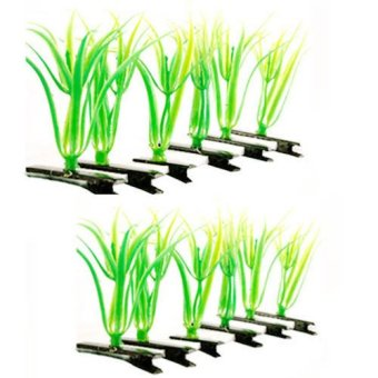 Grass Hair Clip Set Of 12