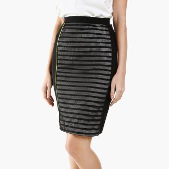 GTW Fab Mesh Pencil Skirt (Black)