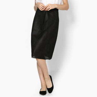 GTW Party Overlay A-Line Skirt (Black)