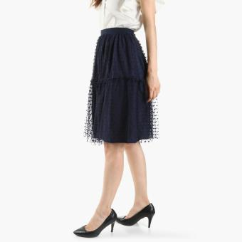 GTW Party Tulle A-Line Skirt (Navy Blue)