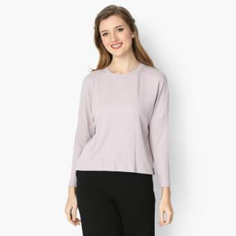 GTW Urban Long Sleeved Ribbed Knit Top (Violet)