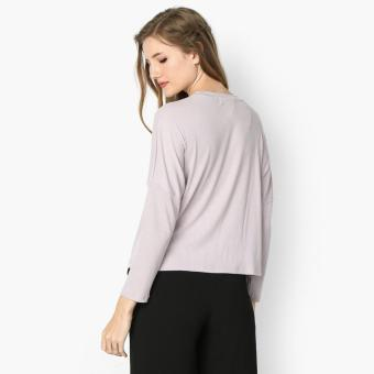 GTW Urban Long Sleeved Ribbed Knit Top (Violet) - 2