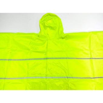 H-628 Lightweight Poncho Rain Coat (Neon) - 2