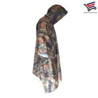 H-917 Multifunction Military Camouflage Waterproof Universal SizeRain Coat Poncho - 2