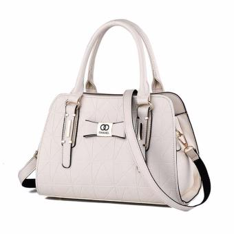 Handbag for Women Sweet Lady Fashion Leather Shoulder Hand Bag Female Top Handle Bags White