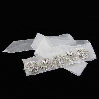 Handmade Bridal Belt (White) - picture 2