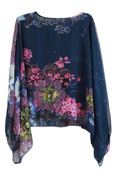 Hang-Qiao Big Print Shirt (Blue) - picture 2