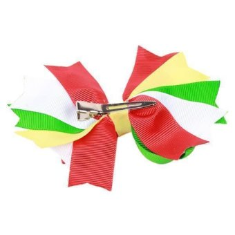Hang-Qiao Bowknot Kids Hair Clip Christmas Bobby Pin Multicolor - picture 2