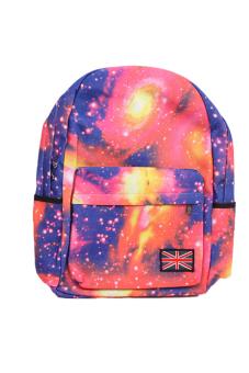 HANG-QIAO Galaxy Pattern Backpack (Pink)