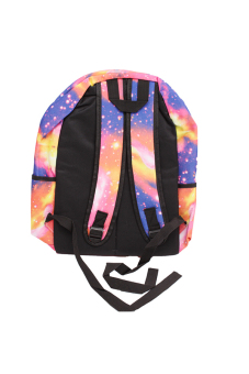 HANG-QIAO Galaxy Pattern Backpack (Pink) - picture 2