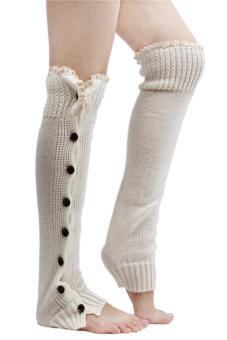 Hang-Qiao Knee High Socks (Beige)