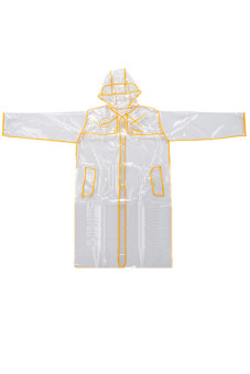 Hang-Qiao PVC Transparent Unisex Raincoat Yellow