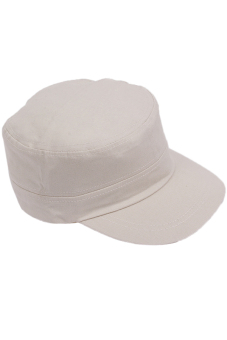 Hang-Qiao Unisex Peaked Caps Sport Plain Adjustable Beige - picture 2