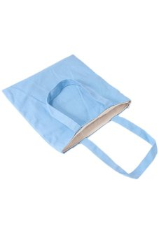 Hang-Qiao Women Canvas Shoulder Bags With Zipper Light Blue - picture 2