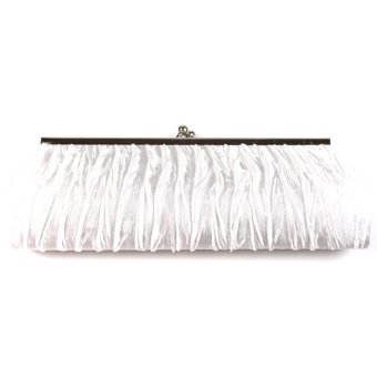 Hang-Qiao Women's Charm Wallet Bag Handbag (White)