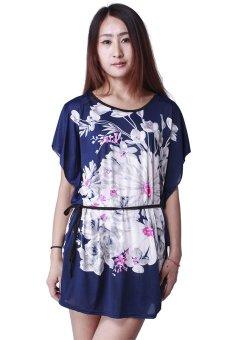HangQiao Casual Mini Dress (Blue/White) - picture 2