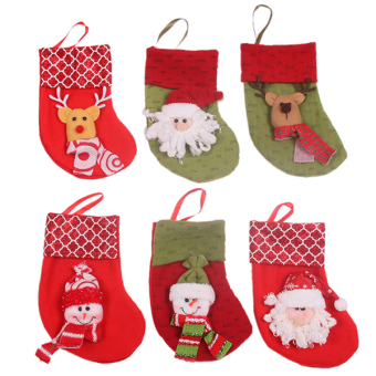Hanyu Christmas Sock Party Decoration Sock #2 Red - picture 2