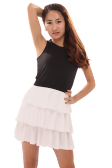 Hanyu Cross Sleeveless Dress (Black) - picture 2