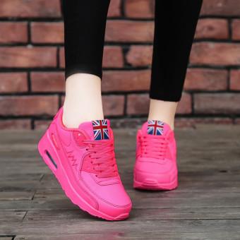 Hanyu Print Sports Fashion Casual Heeled Travel Shoes for Women Pink - 4