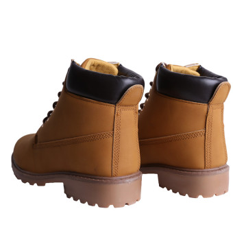 Hanyu Winter Shoes PU Leather Patchwork Strapped Flat Fashion Women Boots Yellow - 3