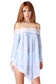Hanyu Women Off Shoulder Corset Dress (Blue) - picture 2