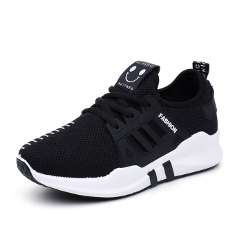Harajuku wild breathable mesh running shoes autumn New style shoes (L18 black)