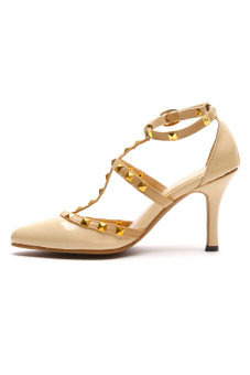 HDY Cheska Heels (Patent Beige) - picture 2