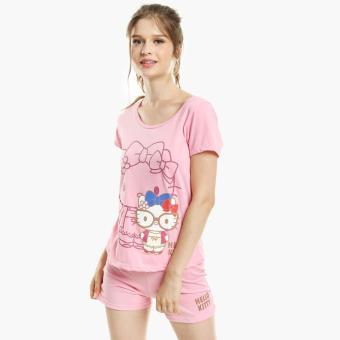 Hello Kitty Glittered Shorts Set (Dark Pink)