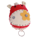 HengSong Cartoon Donkey Pull-Out Key Bag Red
