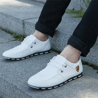 HengSong Fall New Fashion Men 's Casual Shoes White - 3