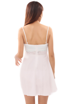 HengSong Sexy Bud Silk Condole Belt Skirt (White) - picture 2