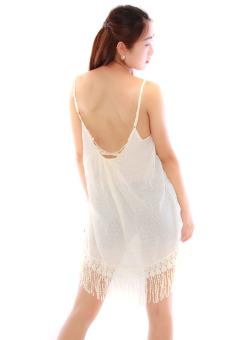 HengSong Short Beach Dress (Beige) - picture 2