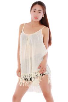 HengSong Short Beach Dress (Beige)