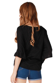 HengSong T-Shirt Sexy Loose Big Yards (Black) - picture 2