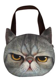 HengSong Women Cat Handbag Grey
