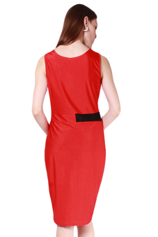 HengSong Women European Style Sexy Fashion Dress Red - picture 2