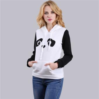 HengSong Women Ladies Casual Panda Pattern Long Sleeve Hooded Thicken Hoodies White - intl - 4