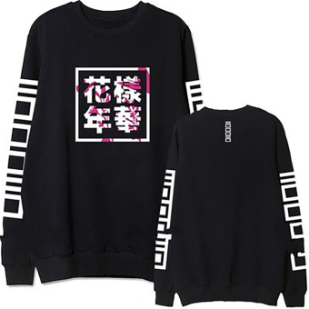 Hequ Bangtan Boys Kpop BTS Women Hoodies Sweatshirts Letter Printedin J-HOPE 94 and SUGA 93 Women Hoodies Black - intl
