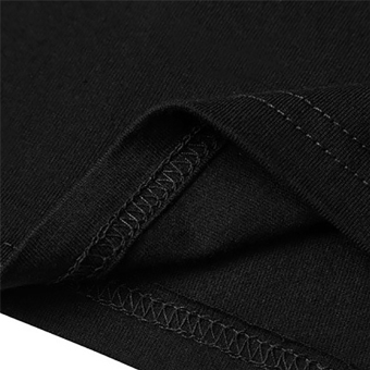 Hequ Fashion Men T-shirt Letter Printed Stretch Cotton T shirt White Short Sleeve Tees tops for men Black - intl - 5